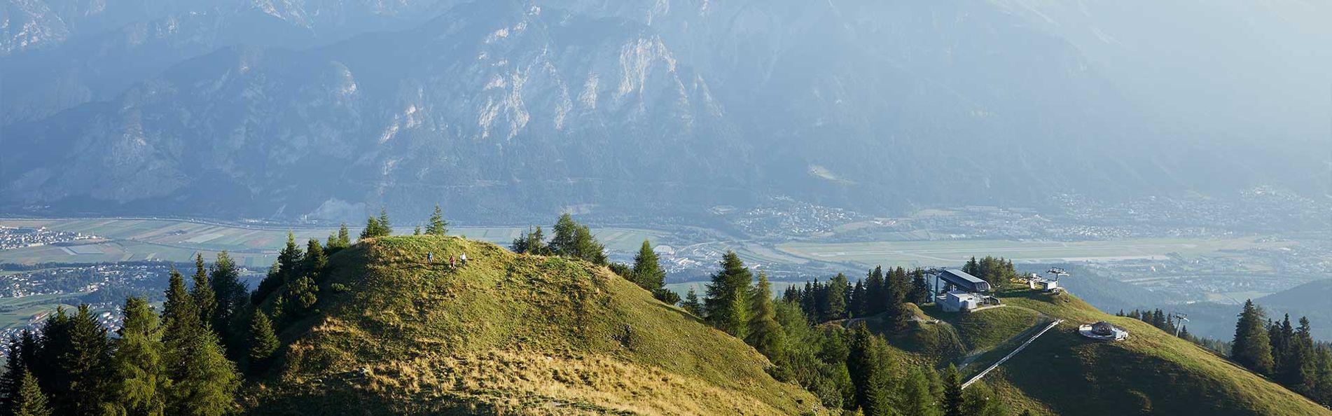 Aussicht auf Innsbruck von Mutterer Alm